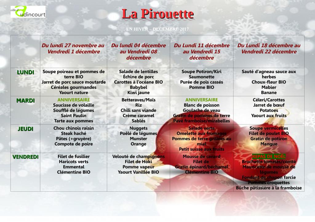menu decembre 2017