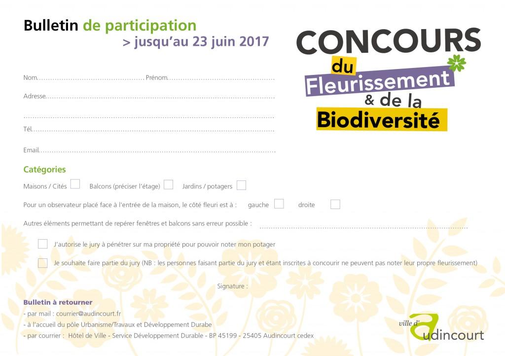 Bulletin inscription Concours2017